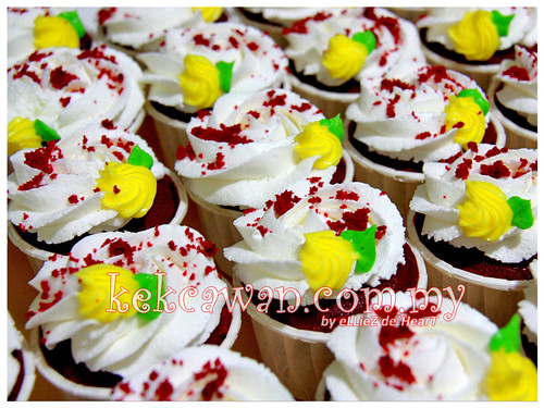 Red Velvet Cupcakes with Cream Cheese