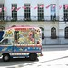 The ice cream van and the bunting