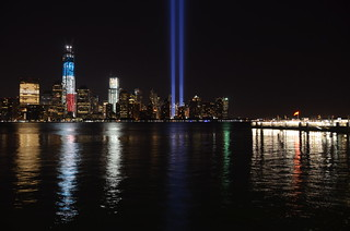 nikon d5100 night photography: tribute in light on the 11th anniversary of 9/11 (unedited) ------- viewed 1,396x