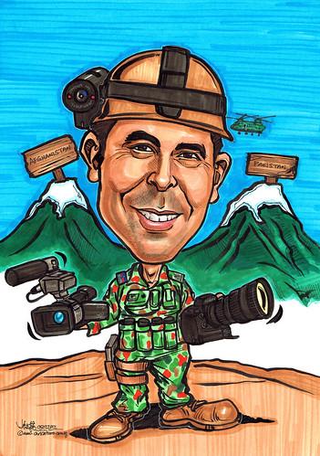 Australia soldier caricature
