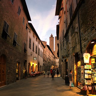 Truly magical atmosphere in San Gimignano by night