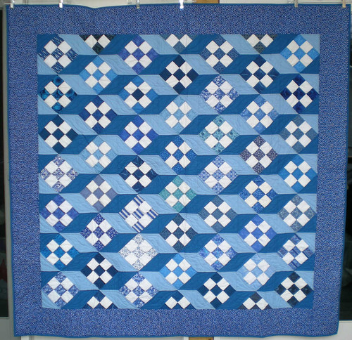 70in sq blue 9 patch by Anonymous