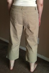Khaki Capris - Before