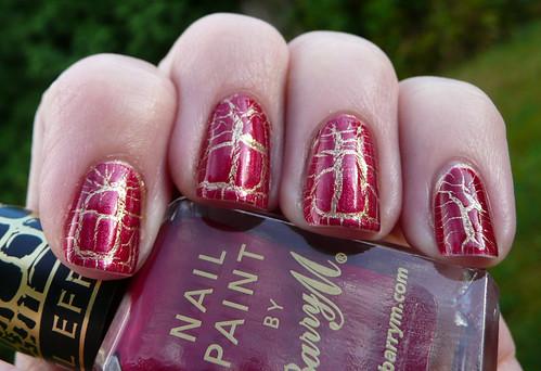 barry m burgundy croc 1
