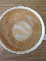 Today's latte, Google Earth.