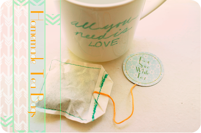 {homemade} tea bags