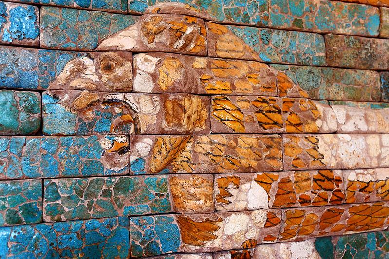 Ishtar Lion detail