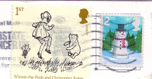 England Stamps Winnie the Pooh & Snowman