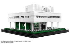 20世紀の住宅の最高作品サヴォワ邸がレゴアーキテクチャーに登場