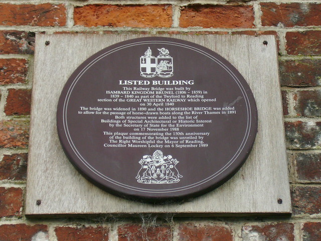 Photo of Isambard Kingdom Brunel brown plaque