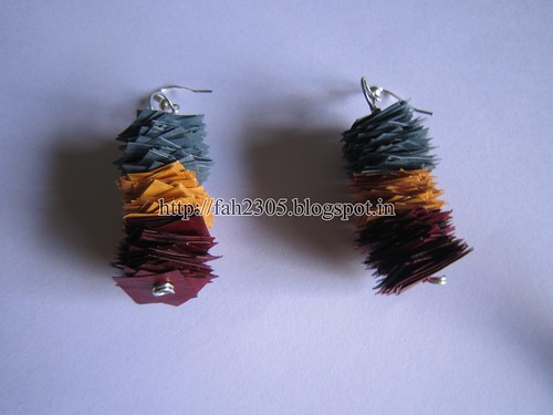 Handmade Jewelry - Scrap Paper Earrings  (2) by fah2305