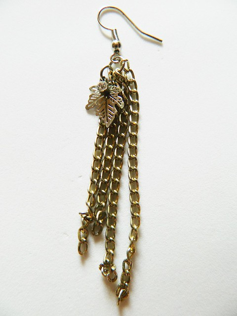 juliana leite DIY earrings brinco chuveirinho único como fazer 001