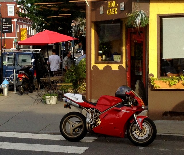 Wellington-Harrington - Bom Cafe in the morning, Cambridge, MA