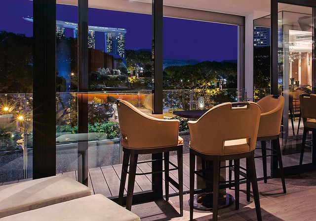 Wooloomooloo Steakhouse Lounge High table and view
