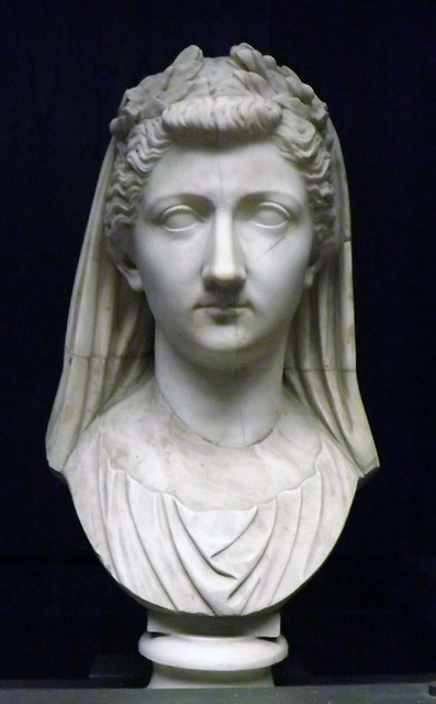 Portrait of Livia as a Priestess in the Vatican Museum, July 2012