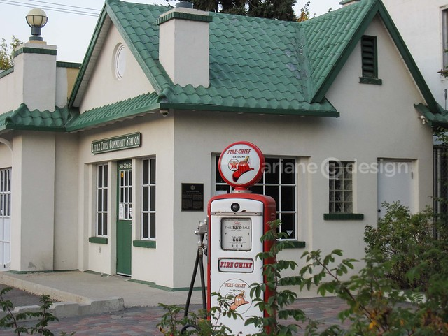 Little Chief Service Station, built by Texaco Oil in 1929