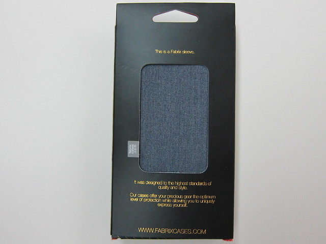 Fabrix Case For iPhone 5 - Box back