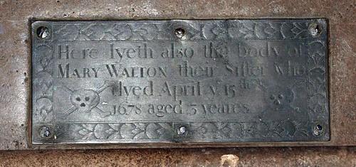 Mary Walton 1678