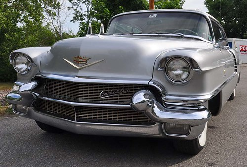 1956 Cadillac El Dorado Silver with a white top