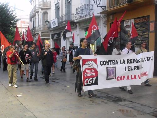 Jornada de lluita 26s 2012 a Mollet del vallès