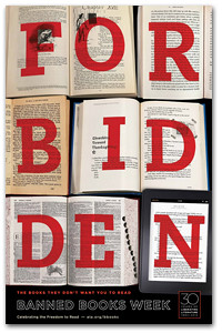 FORBIDDEN: theme of banned books week 2012
