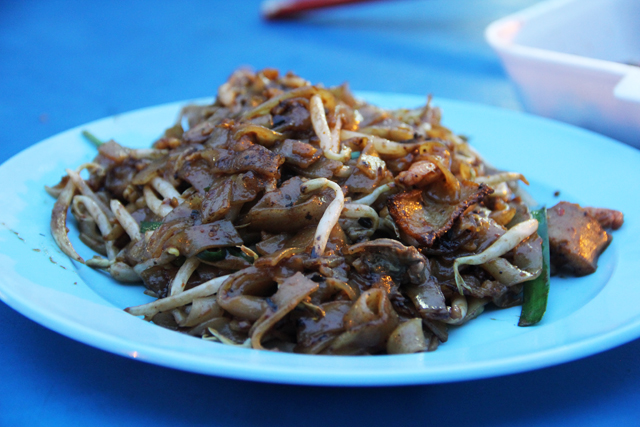 Fried Kuey Teow w/ Salted Chicken Egg