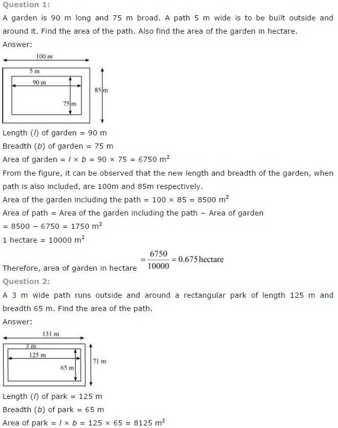 NCERT Solutions for Class 7 Maths Chapter 11 – Perimeter and Area ...
