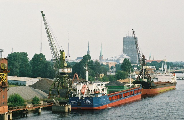 Riga coal loading dock