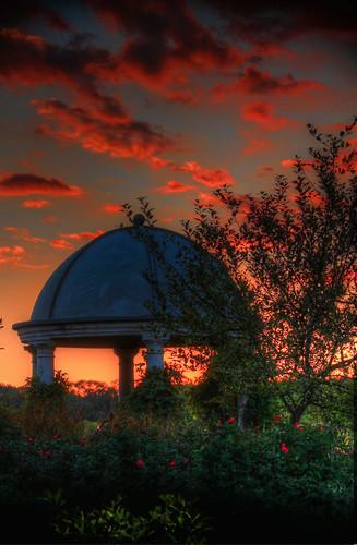 sunset ohio roses summer sky colors cincinnati gazebo summertime woodlawn glenwoodgardens thechallengefactory