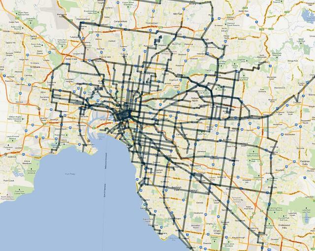 频繁的路线(15分钟)-Weekday Offpeak-2012