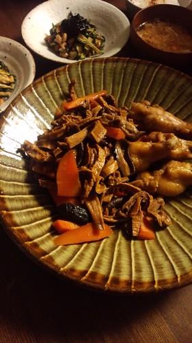干したけのこの煮物 by nekotano