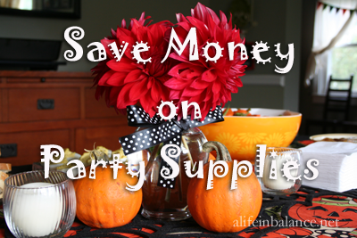 Save Money on Party Supplies