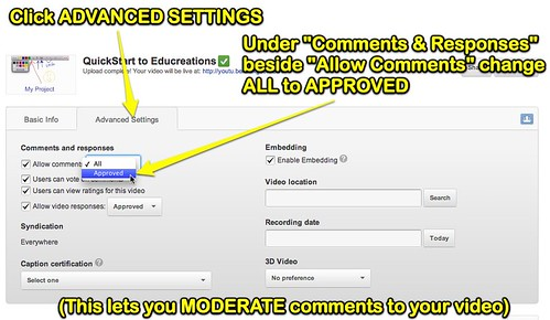 Turn on Comment Moderation in YouTube