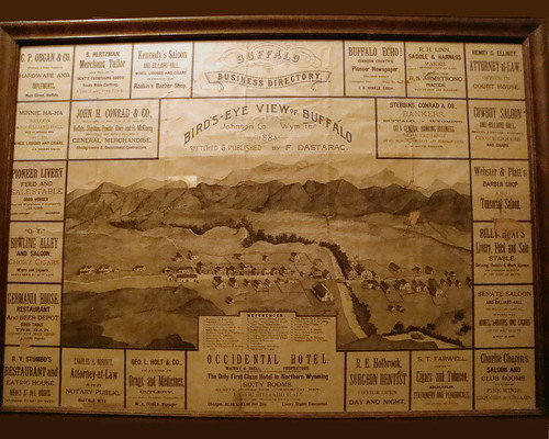 city art ads hotel sketch buffalo map ad wyoming advertisment advertisments occidental