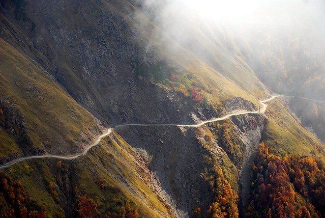 Pass road in Kakheti direction Abano Pass Tusheti