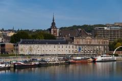 Vue sur l'Evéché de Liège depuis le Pont Albert 1er