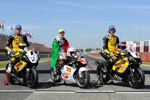 Morales, Torres y Ferrari campeones del Campeonato de Europa de Velocidad Motociclismo Albacete 2012