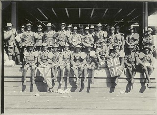 Soldiers waiting to board the troopship OMRAH