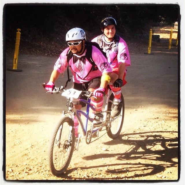 pink tandem race