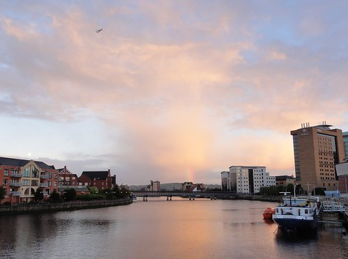 River Lagan and Clouds