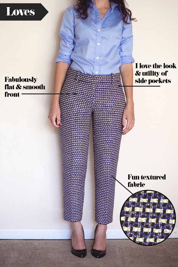 Adventures in Alterations – J.Crew Navy Tweed Cafe´ Capri Preview