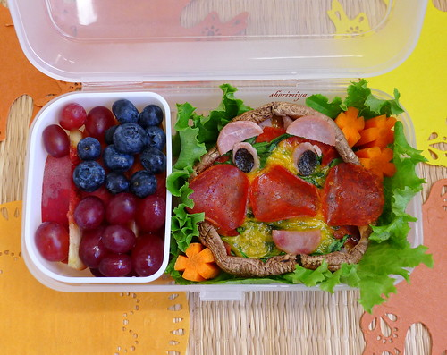 Anpanman Pizza Bento by sherimiya ♥