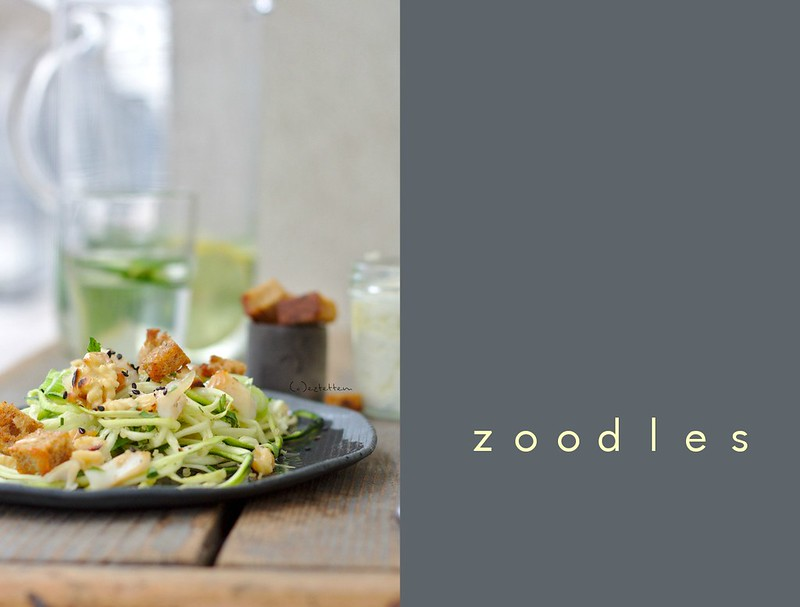 zoodles w/ feta dressing and smoked fish