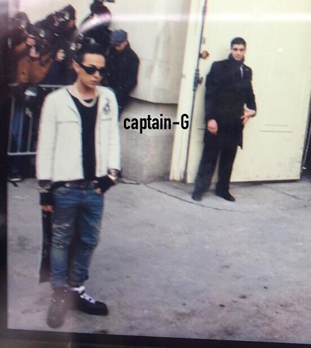 G-Dragon at Chanel Paris 2015-01-27 - 2