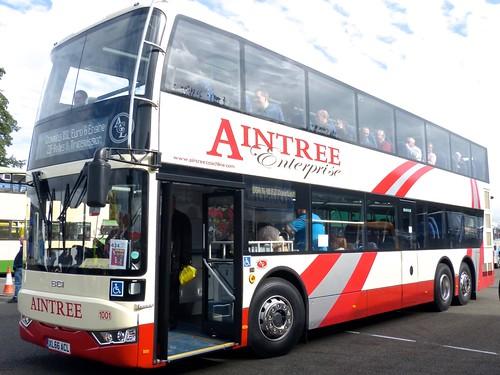 XL66 ACL 'Aintree Coach Line' No. 1001 FBI FBC123BRZ2 / BCI on 'Dennis Basford's railsroadsrunway.blogspot.co.uk'