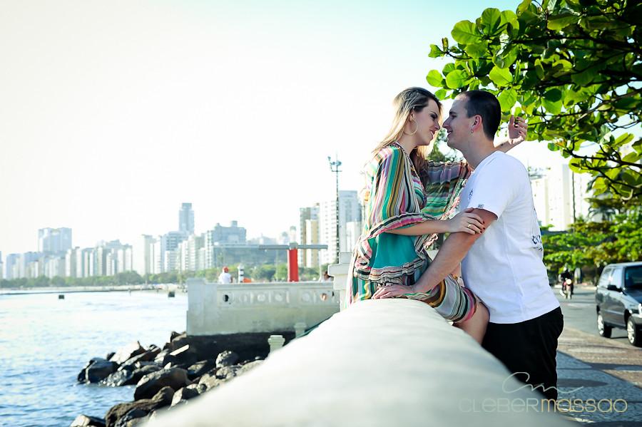 Lais e Diego E-session na praia de Santos-38