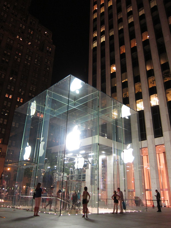 Apple store at nght