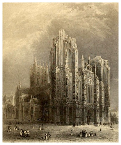 006-Catedral de Wells-Winkles's architectural and picturesque illustrations of the catedral..1836-Benjamin Winkles