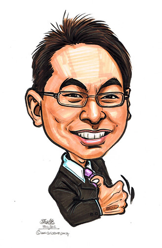 Edward Chia Singapore property agent caricature