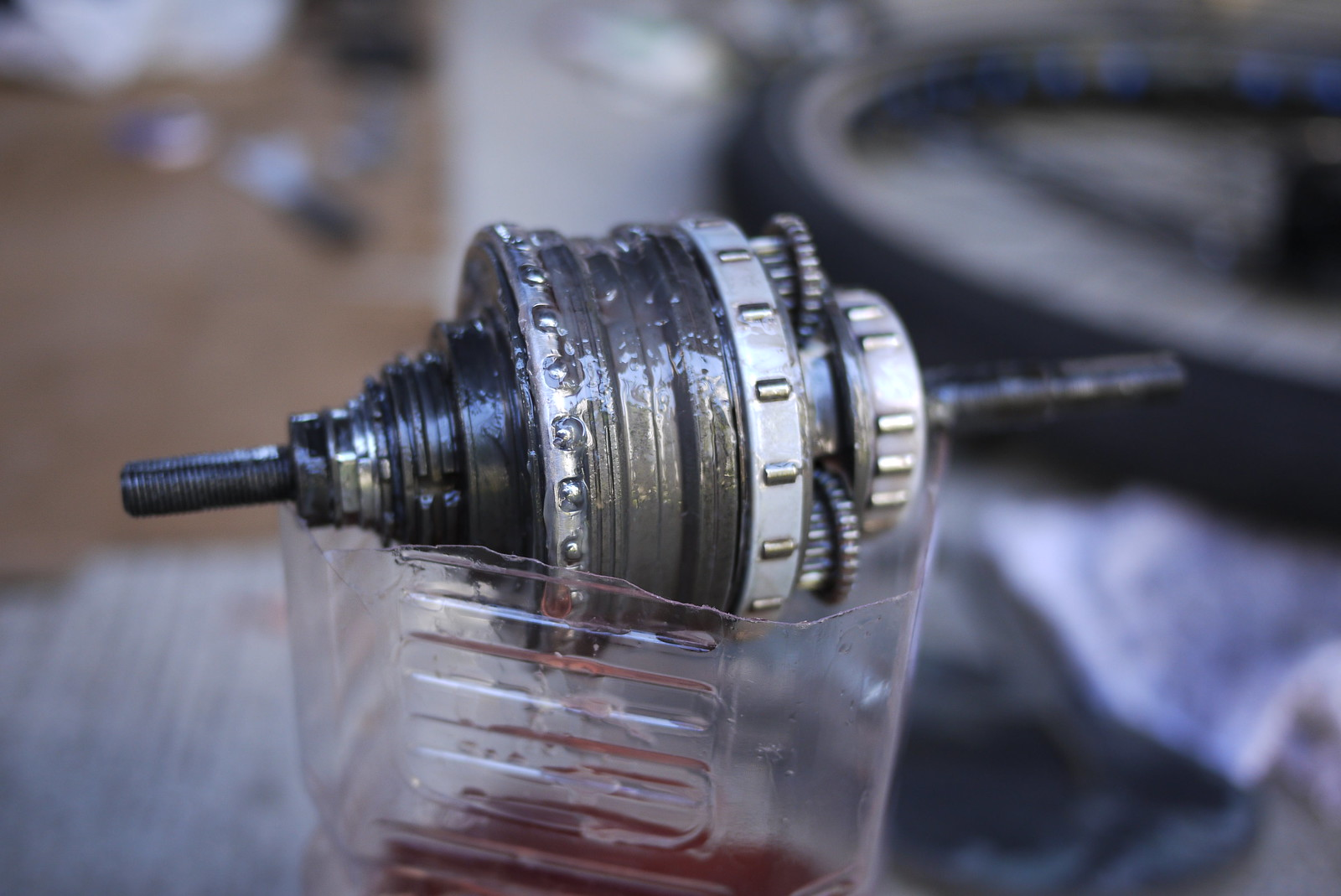Shimano Alfine 8 Speed Internal Gear Hub (IGH) draining after oil bath (auto transmission fluid - ATF)